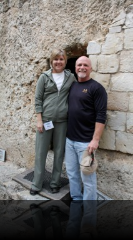Steve and dana at the empty tomb